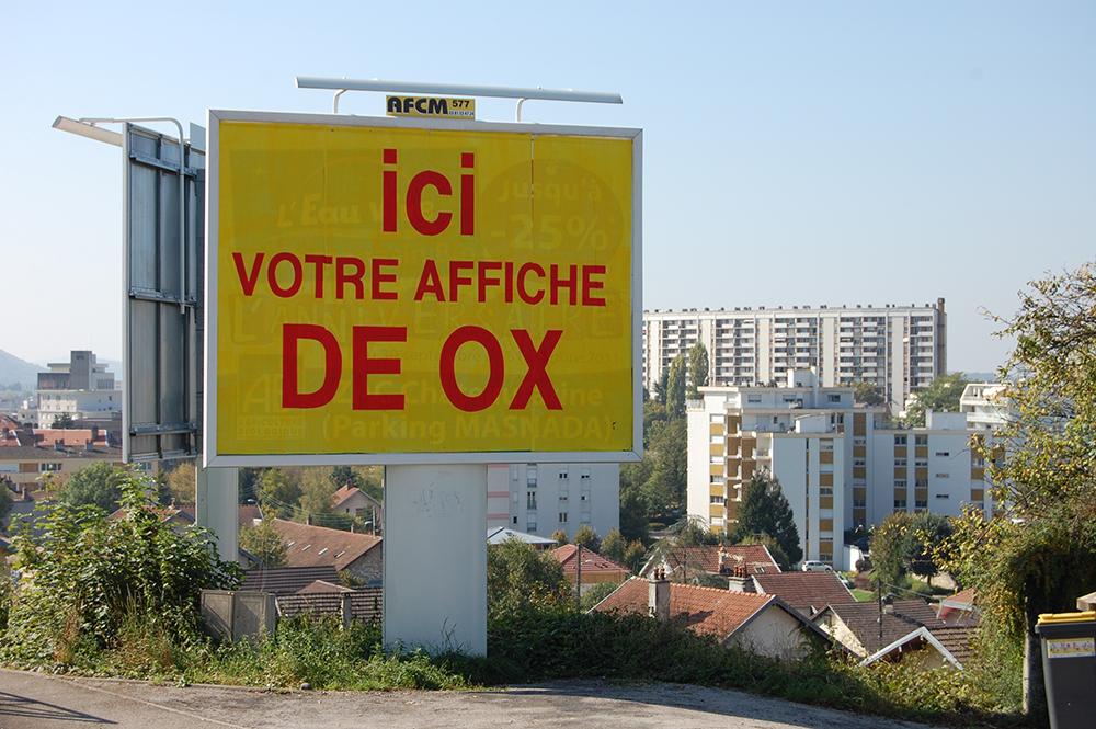 Ici votre affiche de OX