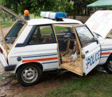 la voiture de police poulailler