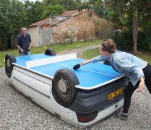 la voiture table de ping pong