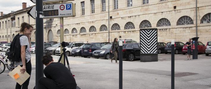Artist Jordan Seiler. Bien Urbain Street Art festival. Besancon. France.