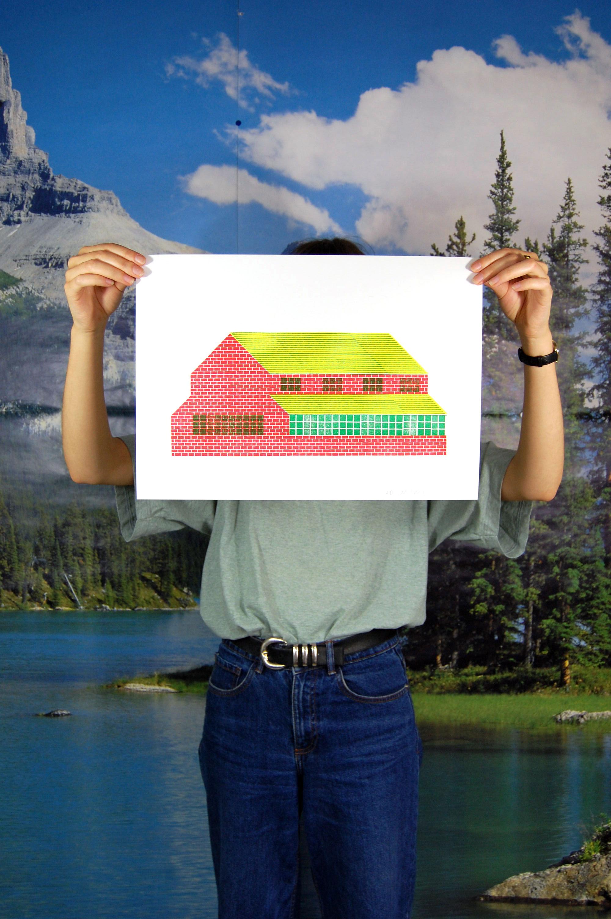 """Aurélien Débat – """"Tamponville"""" Maison en briques rouges"""